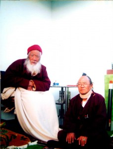 His Holiness Kyabje Chatral Rinpoche and Ralo Rinpoche